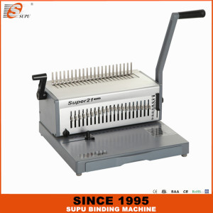 SUPU Heavy Duty Manual Comb Binding Machine Model SUPER21 PLUS