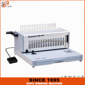 SUPU Electrical Office A4 Size Paper Punching And Comb Binding Machine Model SUPER21E PLUS