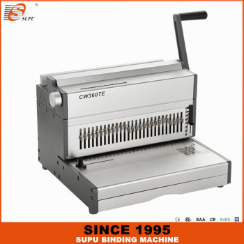 SUPU Electric Wire Binding Machine Maximum Punching Thickness 35 Sheets Width 360MM Model CW360TE