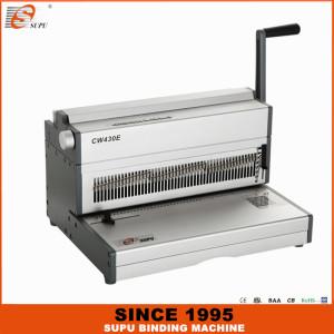 SUPU Electric Wire Binding Machine Maximum Punching Thickness 25 Sheets Width 430MM Model CW430E