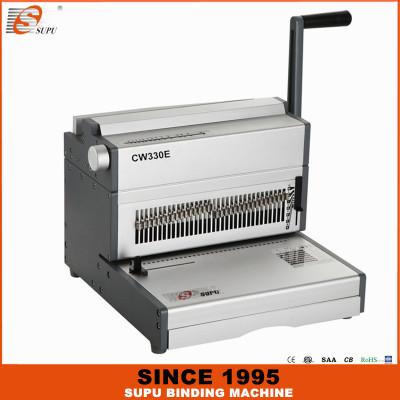 SUPU Electrical Wire Binding Machine Max Punching Thickness 30 Sheets Width 330MM CW330E