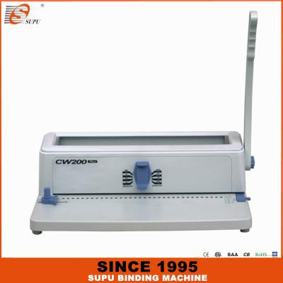 SUPU Máquina de encuadernación manual con punzón y alambre 3: 1 Paso Modelo CW200 PLUS