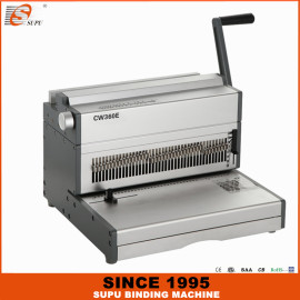 SUPU Electrical 3:1 and 2:1 Pitch Wire Binder Maximum Punching Thickness 35 Sheets Width 360MM Model CW360E