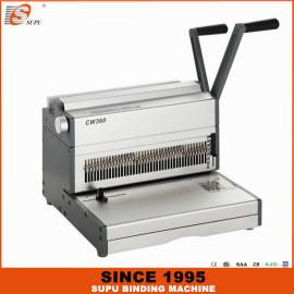 SUPU Manual Wire Closer And Punching Machine Maximum Punching Thinckness 35 Sheets Width 360MM Model CW360
