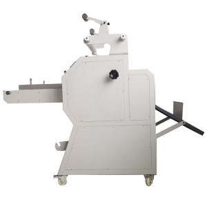 Manual paper feeding pneumatic roll laminator with auto overlap & cutting systems PL-400YA