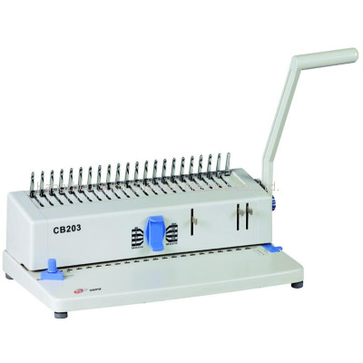 máquina de encmáquina de encuadernación de peine CB203