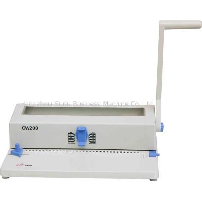 máquina de encuadernación de anillo de hierro CW200