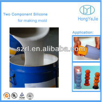 Rtv-2 silicon rubber for candle mould making