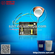 Electronic potting silicone material for PVC board