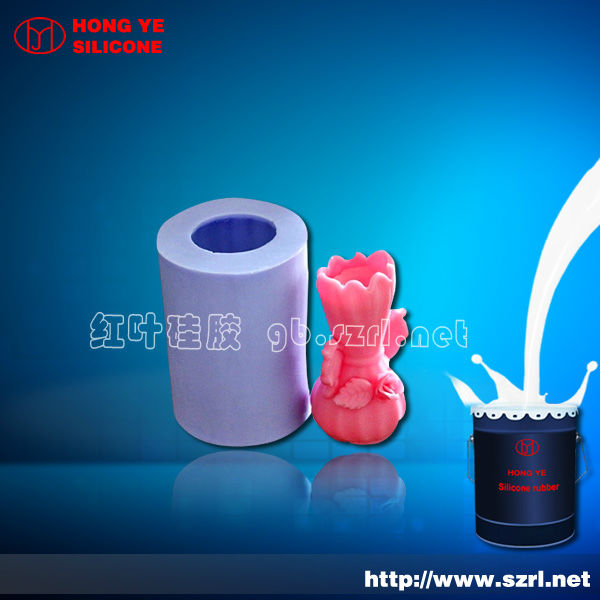 Liquid silicon for candle mold