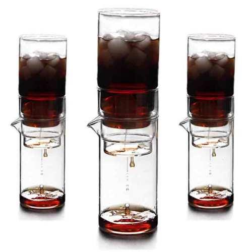 Vertikale transparente Qualität Glas kalt Tropfkaffeemaschine