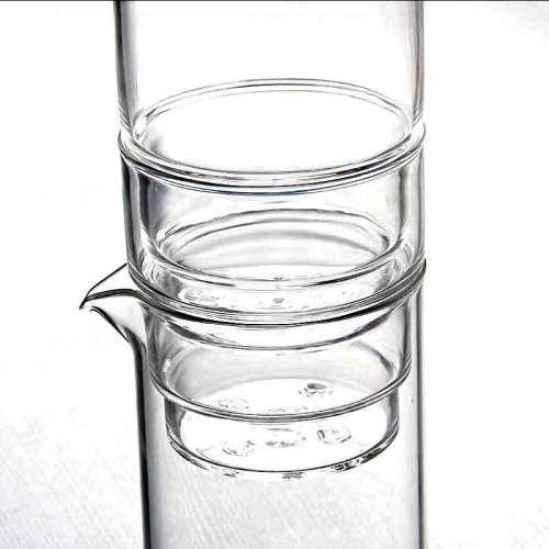 Umweltfreundliche nichtporöse Borosilikatglaskaffeemaschine