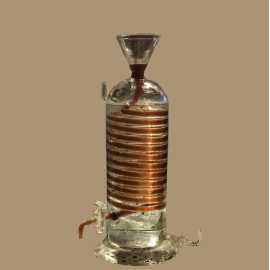 Pure hand-made glass instant coffee cooler maker