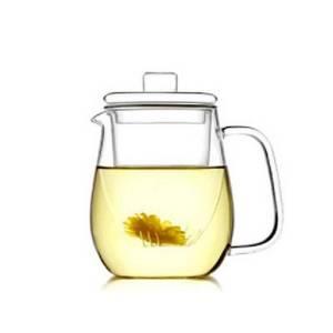 Taza de infusión de té fina de cristal borosilicato alta elegante