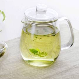 Taza de té de cristal china grande hecha a mano primera