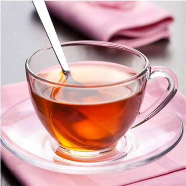 Royal Glass Tea Cups & Saucers para restaurante occidental