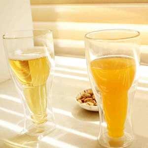 Kristall hohe Borosilikat Doppelwand Saft Glas Tasse