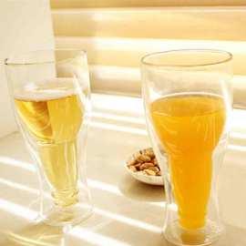 Vaso de vidrio con alto contenido de borosilicato y doble pared