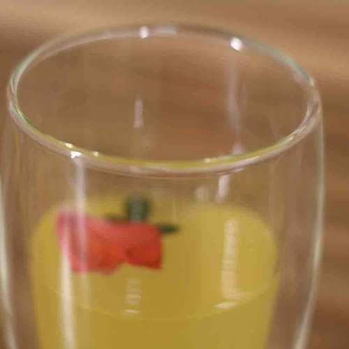 Hitzebeständige Borosilikat Doppelwand Glastasse für Getränke