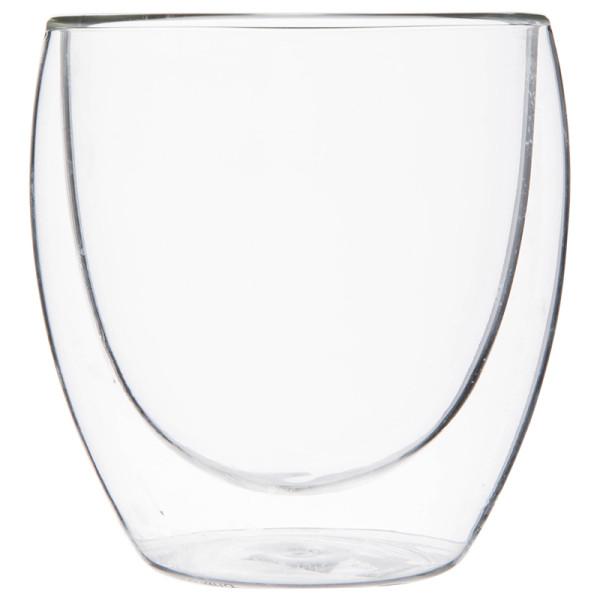 tasse faite sur commande manuelle de soufflage de verre de double paroi