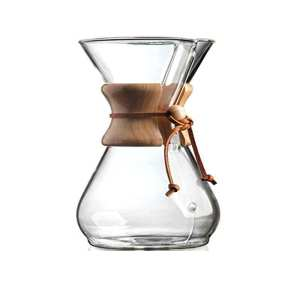 El vidrio de encargo de China vierte sobre la jarra de café de cristal pyrex