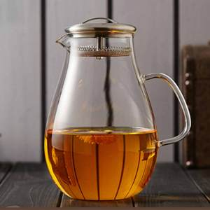 Stylish Glass Carafe Water Jug with Stainless Steel Lid