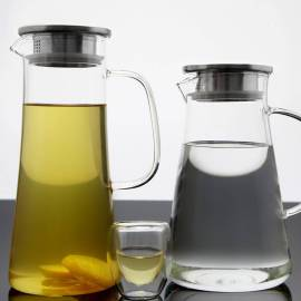Hand Made Glass Water Pitcher for Office and Home