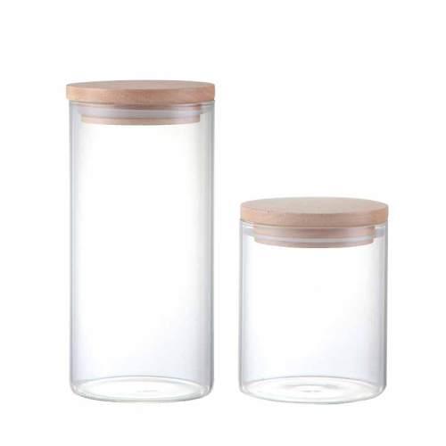 Runde Form Glas Food Storage Glas mit Kork Deckel