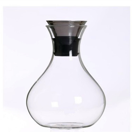 Attractive  large capacity vase shape glass pitcher