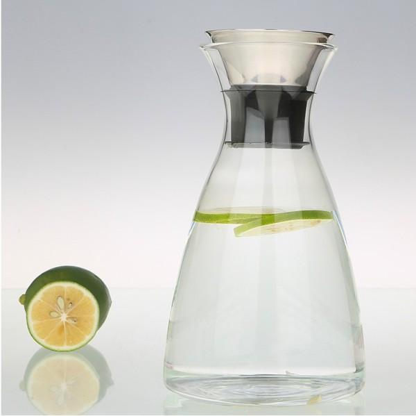Pichet en verre borosilicaté décoratif résistant à l'eau