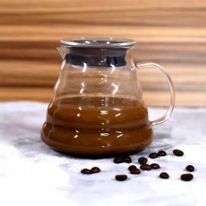 Minimalisme élégant Serviteur de café en verre soufflé à la main résistant à la chaleur