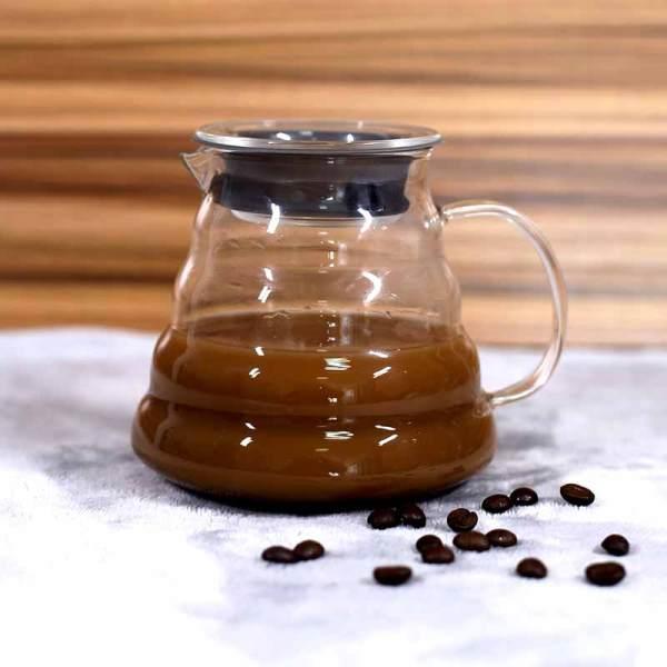 Minimalismo con estilo Servidor de café de vidrio soplado a prueba de calor
