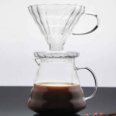 Mikrowellenfähiger Kaffeeserver aus Borosilikatglas mit Glasfilter