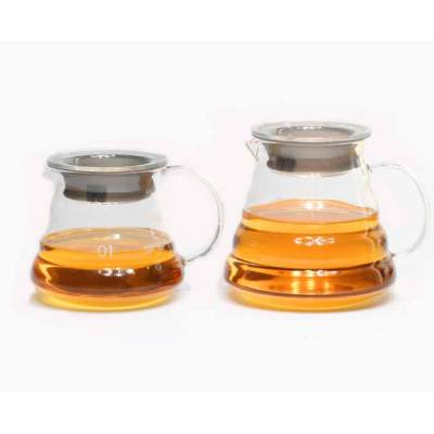 Tartisan-hicken Glas Durable Wave Textur Glas Kaffee-Server