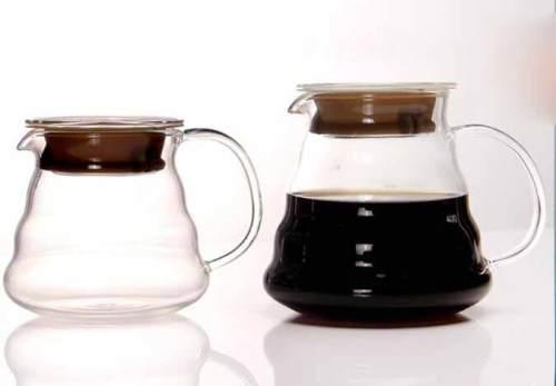 Tartisan-hicken Glas Durable Wave Textur Glas Kaffee-Server