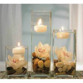 Handgemachter Kerzenhalter aus Glas zur Dekoration