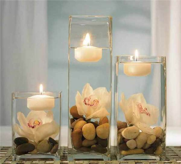 Candelero de cristal hecho a mano hecho a mano para la decoración