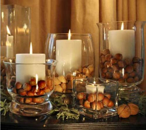 Bougeoir en verre fait sur mesure pour la décoration
