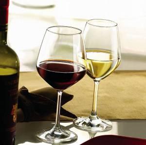 Copa de vino de vidrio sin plomo exclusiva Stemware con excelencia estética