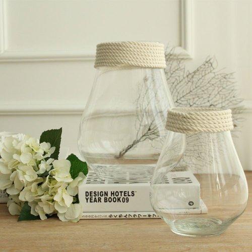 A prueba de roturas vidrio soplado a mano transparente flor y jarrón de relleno para el hogar y la boda