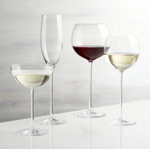 Vaso de vino de gran tamaño refinado apto para lavavajillas Champagne Glass