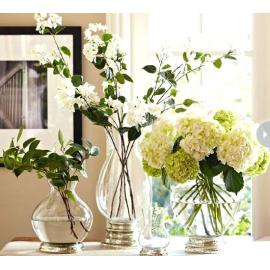 Subtly curved glassware decoration handmade filler glass vase for home and indoor and outdoor
