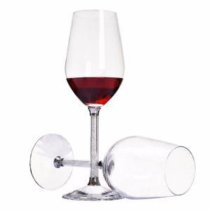 Copa de copa de vino exclusiva sin plomo forma de bulbo