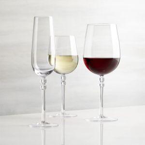 Design élégant borosilicate verres à vin et verres à pied