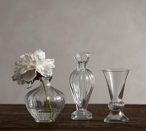 Jarrón de vidrio de borosilicato pequeño y exquisito