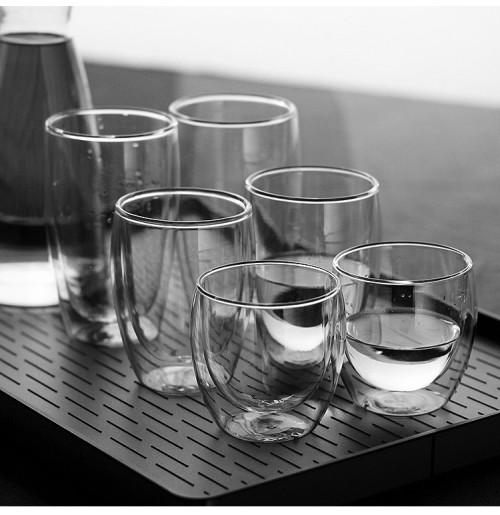 Prime heatproof adiabatic double wall glass mug