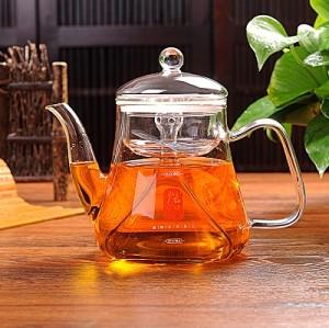 Hand Made Clear Borosilicate Glass Tea Set