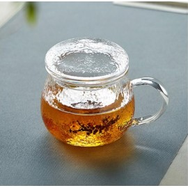 Handmade Glass Tea Cup with Fliter and Handle
