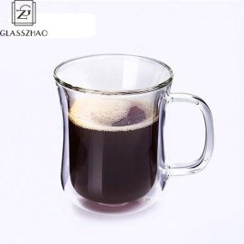Double Wall Glass Tea Coffee Cup Handmade Heat-resistant Transparent Drink-ware