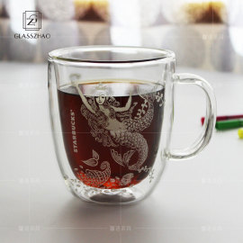16 Oz White Mermaid Cup Coffee Cup Double Wall Insulated Glass Cup Clear Tea Mug